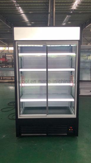Commercial Supermarket Glass Door Display Refrigerator Open Chiller