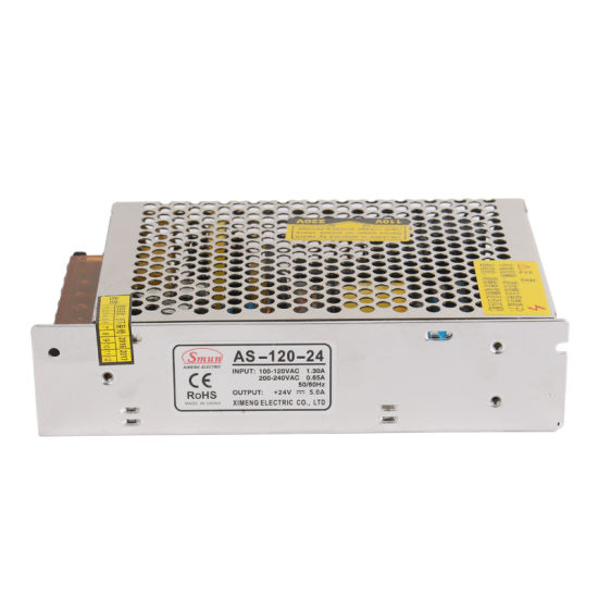 as-120-24 Mini Size 120W 24V 5A CCTV Camera Power Supply pictures & photos