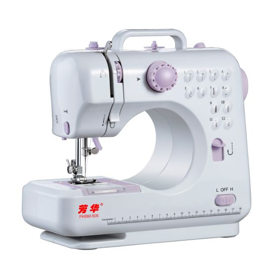 Fhsm-505 12 Stitches Pattern Household Electric Mini Sewing Machine
