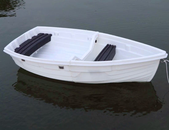 China new design pe 2 block foldable plastic fishing boat for Small used fishing boats for sale