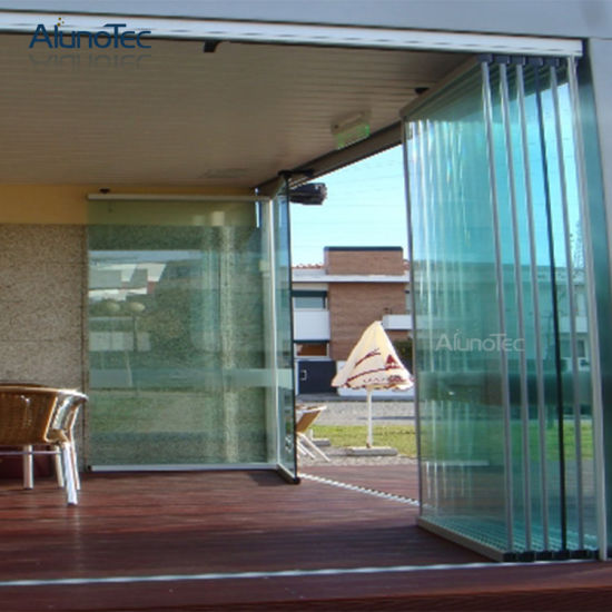China Modern Frameless Glass Bi Folding Door For House China Bi