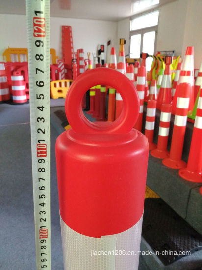 Elasticized Molded Interlocking PE 800mm Plastic Flex Bollard pictures & photos