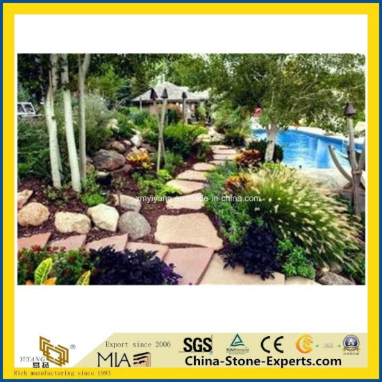 Natural Grey/Black/Yellow/Green/White Basalt/Slate/Tumbled/Sandstone/Kerbstone/Granite Paving Stone for Garden/Landscaping/Decorative/Driveway pictures & photos