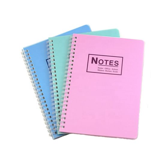 School Supplier Custom A5 Spiral Notebook for Stationery