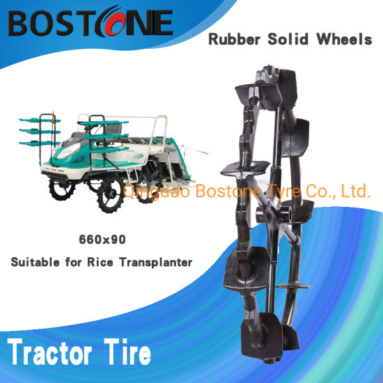 60cm 66cm 65cm 95cm Solid Rubber Wheels for High Speed Gasoline Rice Direct Seed Planter Machine
