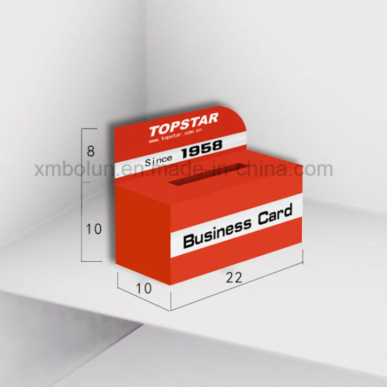 Business Card Holder Photo Counter Display Case