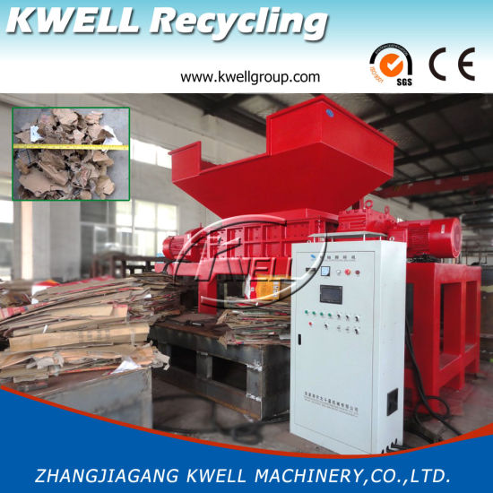 Double Shaft Shredding Machine/Waste Paper Recycling Crusher/Carton Shredder pictures & photos