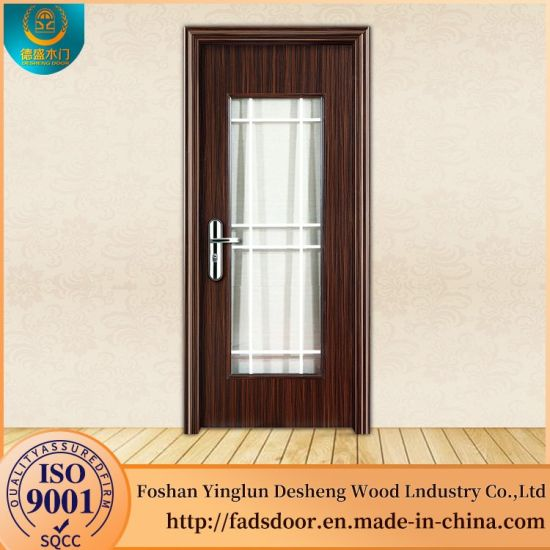 China Desheng Wooden Flash Glass Panel Doors Design China Wooden