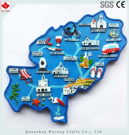 Map Of Spain For Tourists.China Tourist Souvenir Various 3d Magnet Map In Spanish Fridge