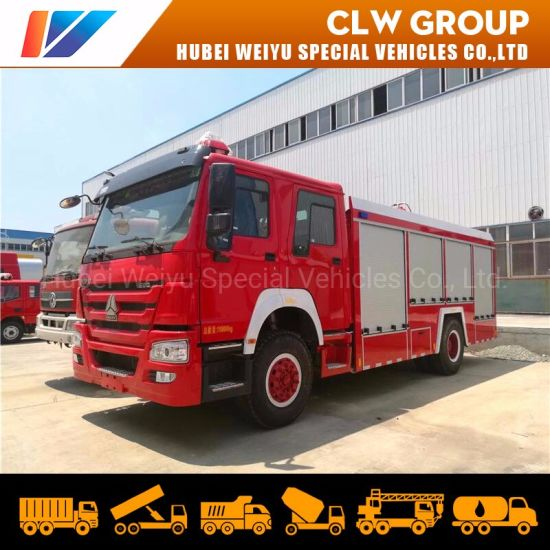 10mt Sinotruk HOWO 10tons Water Fire Truck Fire Engine