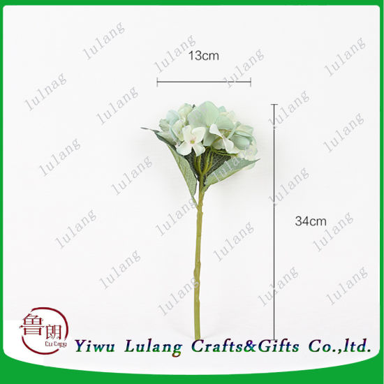 China 34cm artificial hydrangea silk flowers in cream green color 34cm artificial hydrangea silk flowers in cream green color mightylinksfo