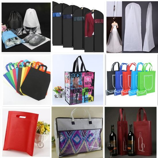Non Woven Bag, Wholesale Recyclable Laminated Reusable Foldable Eco PP Spunbond Wine Drawstring Shoe Garment Suit Wedding Dress Shopping Gift Tote Shoulder Bag pictures & photos