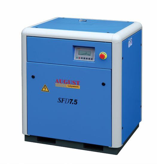 7.5kw/10HP August Stationary Air Cooled Screw Compressor pictures & photos