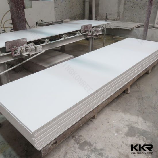 30mm Glacier White Acrylic Solid Surface Countertop Slab