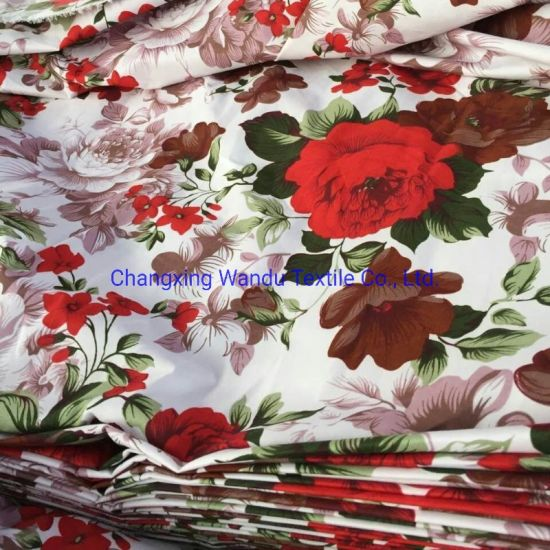 Printed Sheets Wholesale 100 Polyester Microfiber Peach Skin Fabric