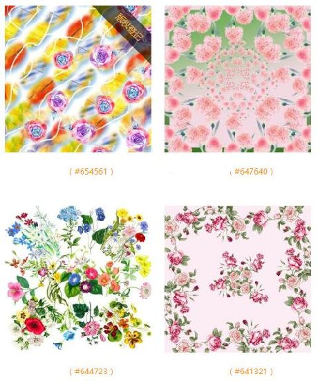 colorful flowers patterns printed silk scarf supplier from china