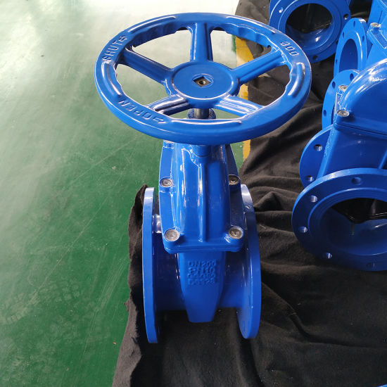 """Ce ISO En Standard Metal Ggg50 Handle Wheel Type Ductile Iron EPDM Seated Non Rising Stem Sluice Gate Valve 10""""with Cheap Price"""