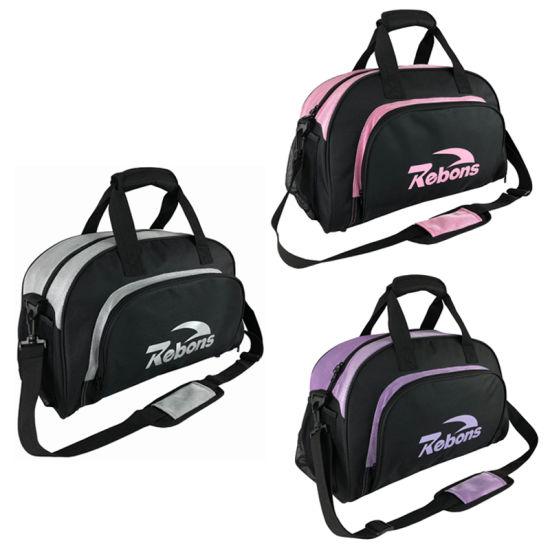 2020 Custom Logo Black Men Duffel Bag Gym Sports Bag Luggage Travel Bags with Shoe Compartment