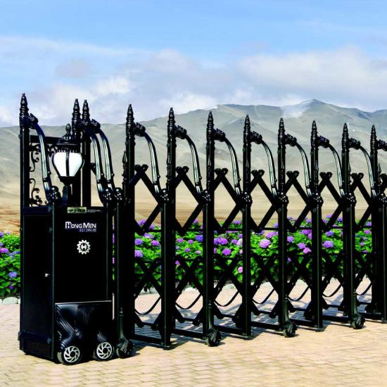 Industrial Aluminum Alloyed Electric Telescopic Gate for Facoty or government