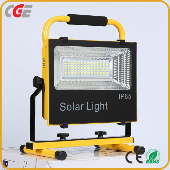 Hot Selling Courtyard Rechargeable IP65 100watt Integrated All in One Solar LED Flood Lamp