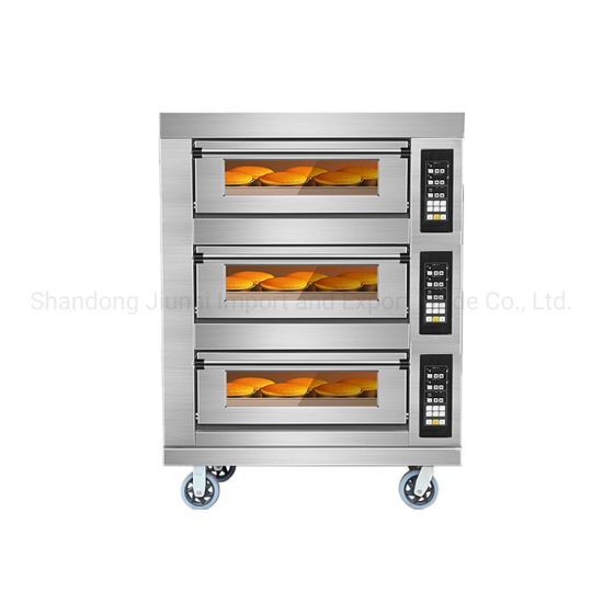 3 Deck 6 Trays Gas Deck Oven Baking Machine Commercial Bakery Equipment Pizza Oven Baking Oven