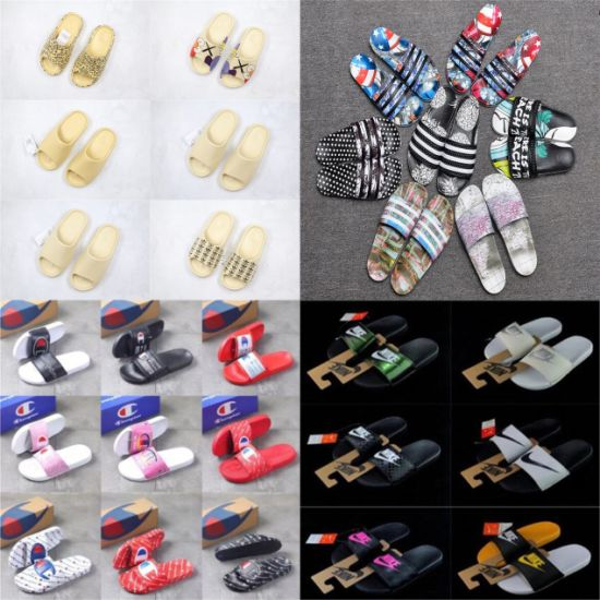 Luxury Designer Yeezy Champions Putian Summer Beach Flip Flops Sliders Slippers