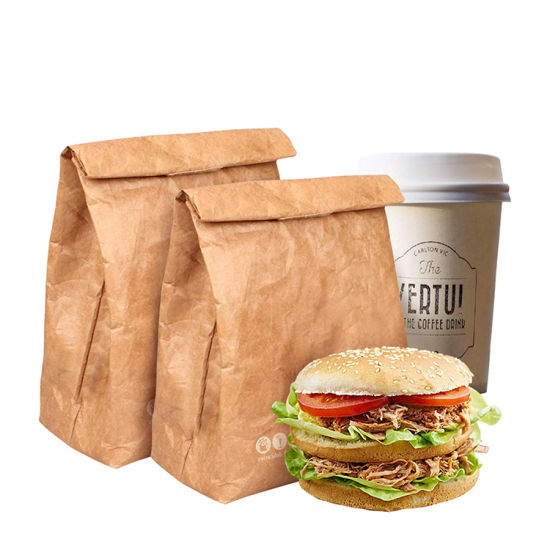 Wholesale Hot Selling Custom Design Eco Friendly Washable Paper Tyvek Thermal Lunch Cooler Bag