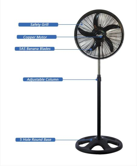China Factory Full Plastic 18inch Big Adjustable Home Electric Stand Fan for Industrial