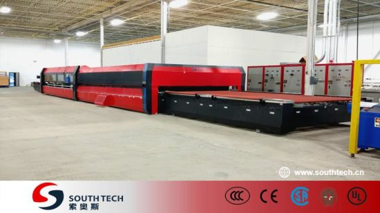 Southtech Full Automatic Intelligent Control Fast Speed Double Chamber Double Quenching Tempering Glass Furnace Oven Price