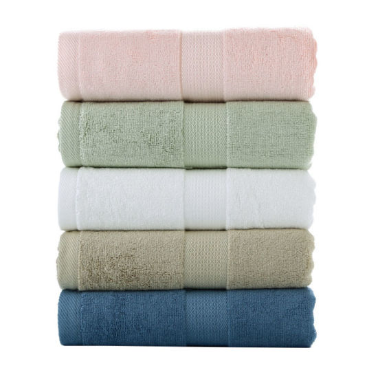 Wholesale Custom Super Soft Solid Color Terry Bamboo Cotton Bath Towel Multi Color Dobby Luxury Hotel Bath Towel pictures & photos