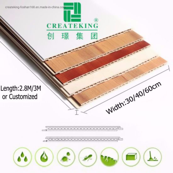 Wood Pattern Interior Decoration PVC Panel PVC Ceiling PVC Wall Panel 3dwall Panel