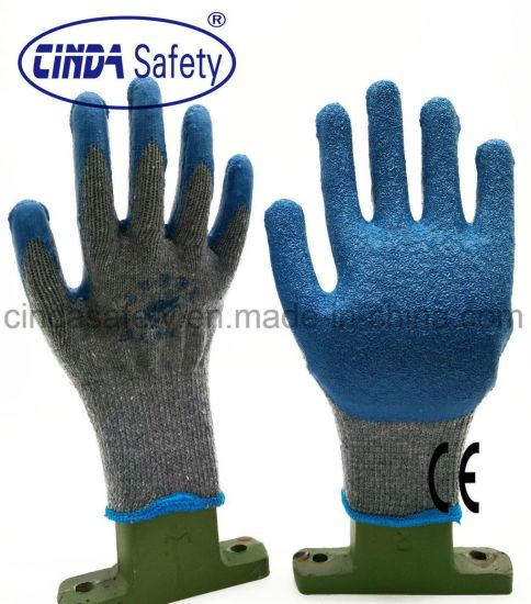 Construction Labor Protective Latex Coated Crinkle Gloves