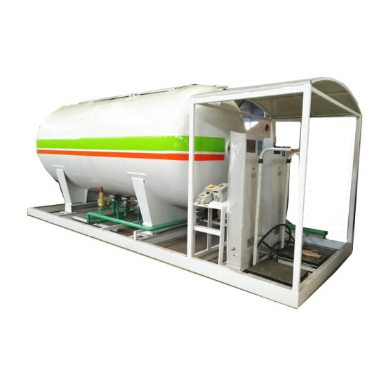 10000liters LPG Filling Plant with Two Dispenser for 4tons LPG Cooking Gas Cylinder Filling Station Skid Mounted Tank of Easy Transport