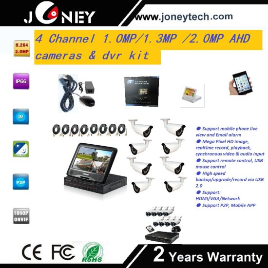 Joneytech High Resolution Security Ahd DVR Camera System Kit 1080P pictures & photos