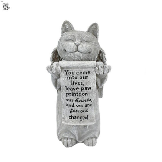 Factory Manufacture Garden Decoration Cute Cat Marble Sculpture Mfsy-123