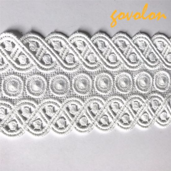 High Quality Polyester White Pattern Trimming
