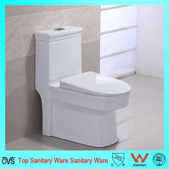 Double Siphonic Flushing Ceramic One Piece Water Closet Wc
