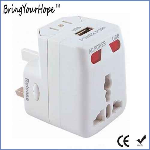 Single USB Port AC Power Travel Charger Adapter (XH-UC-039)