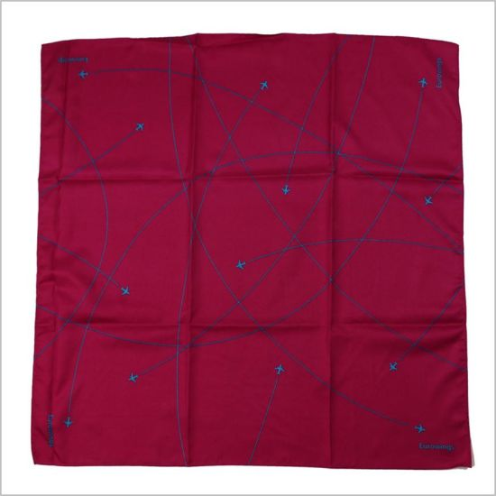 ac2b1ace925b New Design Solid Wine Color Uniform Printed Silk Polyester Logo Scarf  (SF-019)