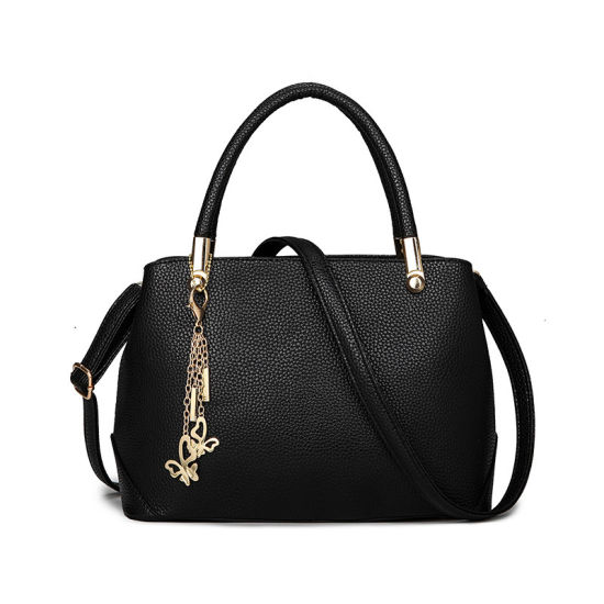China Factory Price Handbags Women Classic Tote Bag with Metal Butterfly  Charm ba9da006af