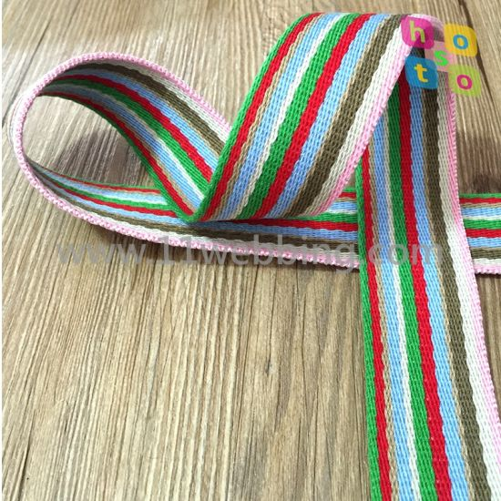 Mature and Stable Cotton Striped Webbing pictures & photos