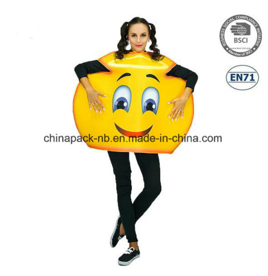 Emoji Funny Face Carnival Cartoon Party Costume for Women (PGC70014X)