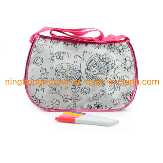 Promotional Customized New Fashion Kids DIY Coloring Bag
