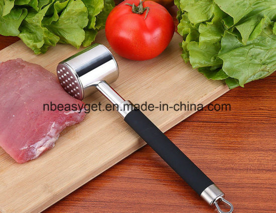 Meat Hammer Meat Tenderizer Mallet Tool, SUS304 Stainless Steel Loose Meat Hammer Kitchen Tool for Chicken, Beef and Pork pictures & photos