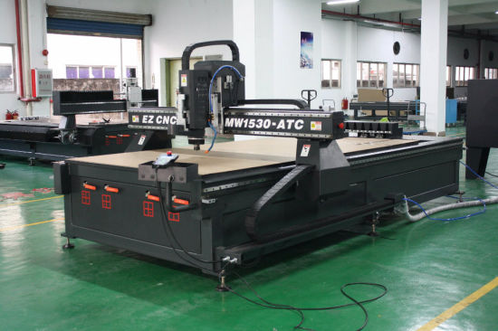 Ezletter Ce Approved Precision and Stable Helical Rack Advertisement Engraving CNC Router (MW-1530 ATC) pictures & photos