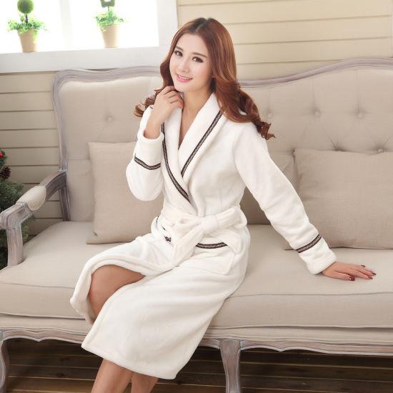 China Wholesale Unisex Cotton Coral Fleece Hotel Bathrobe - China ... 3c14652f2