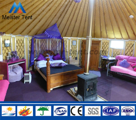 Luxury Decoration Hotel Living Yurt Tents Group for Resort pictures & photos