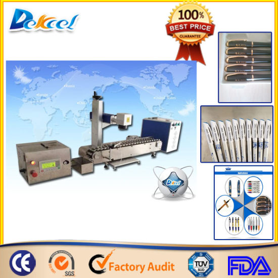 China Quality 20W Fiber Laser Marker for Pen Production Line pictures & photos