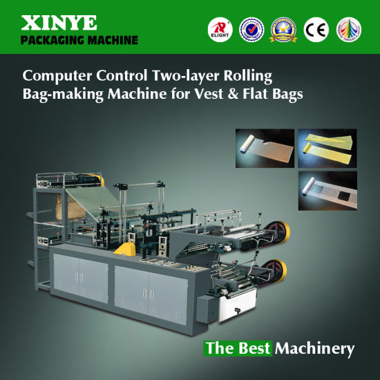 Rolling Garbage Bag Making Machine for T-Shirt and Flat Bags