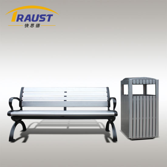 High Quality Outdoor Aluminum Park Bench with Back pictures & photos